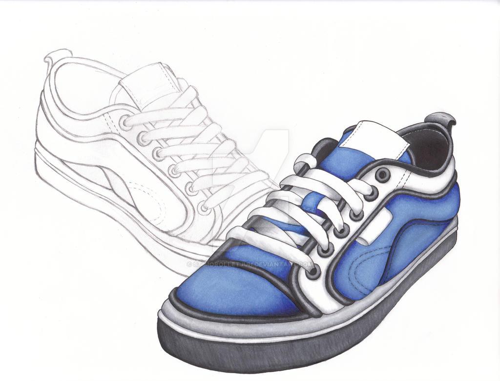 Sneaker Sketch by Stimorolletjuh