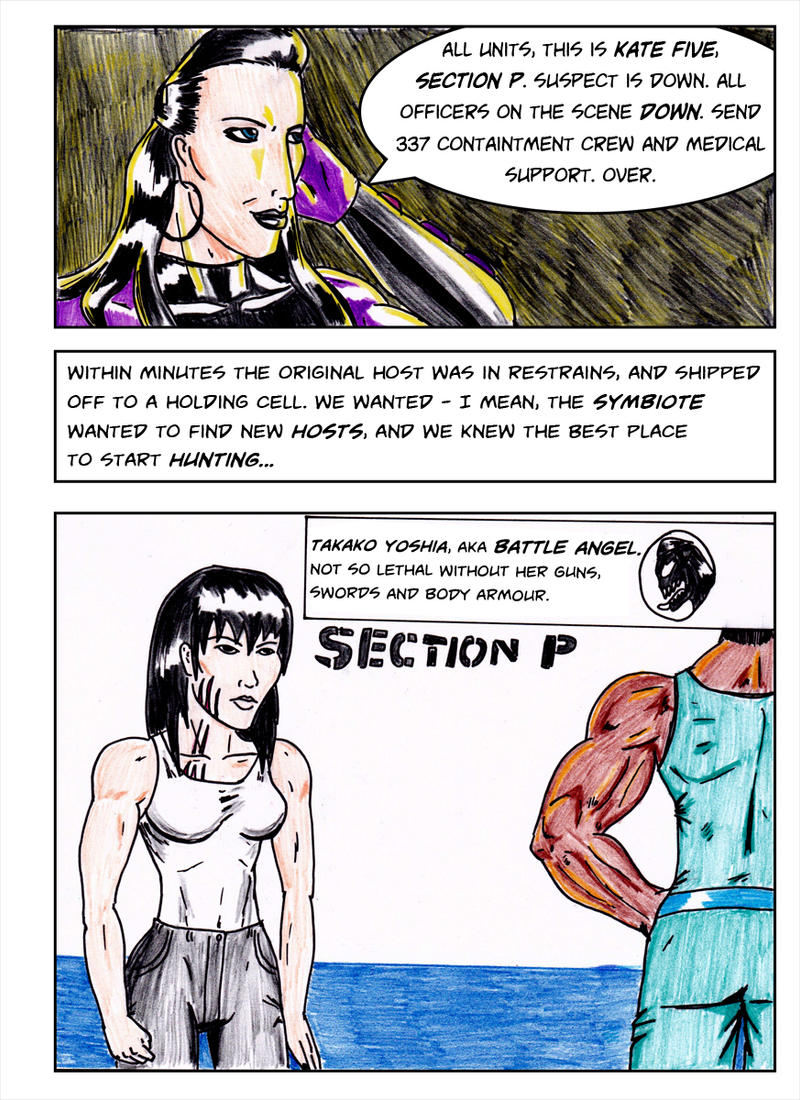 Kate Five vs Symbiote comic Page 5