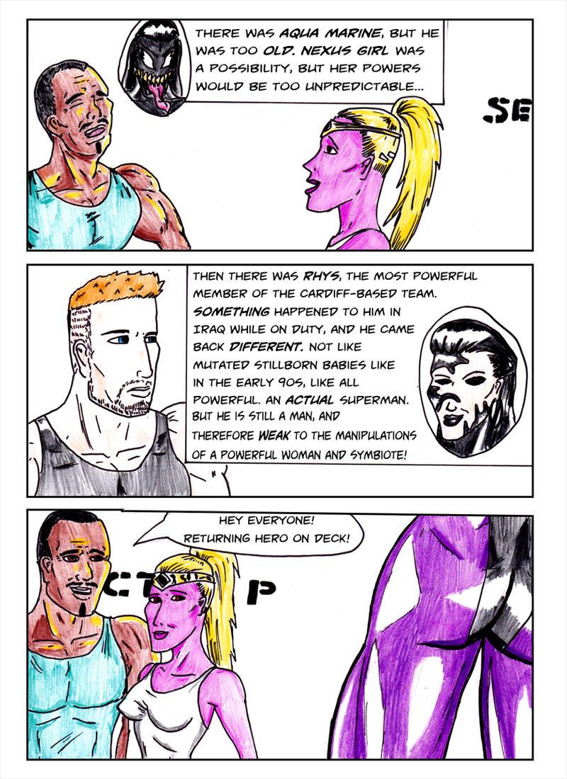 Kate Five vs Symbiote comic Page 6