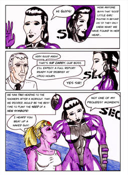 Kate Five vs Symbiote comic Page 7