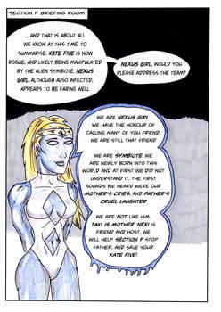 Kate Five vs Symbiote comic Page 23