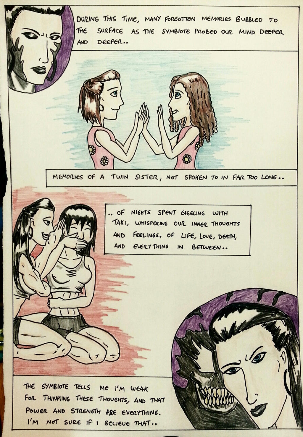 Kate Five vs Symbiote comic Page 25