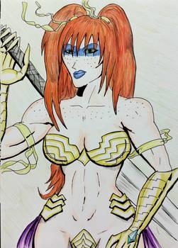 Aideen in her Liath form by cyberkitten01