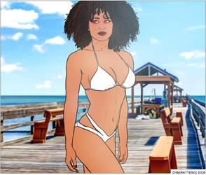 Lacrecia's White Bikini