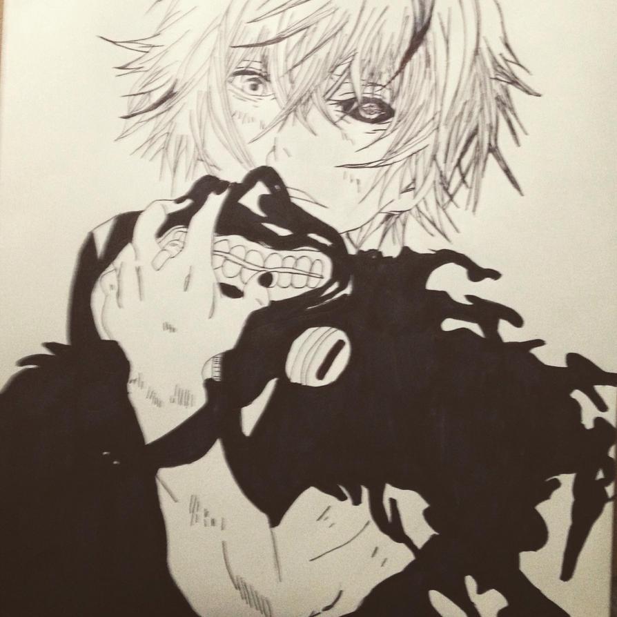 Kaneki Ken Drawing By Ulquiorra-Cifer33 On DeviantArt