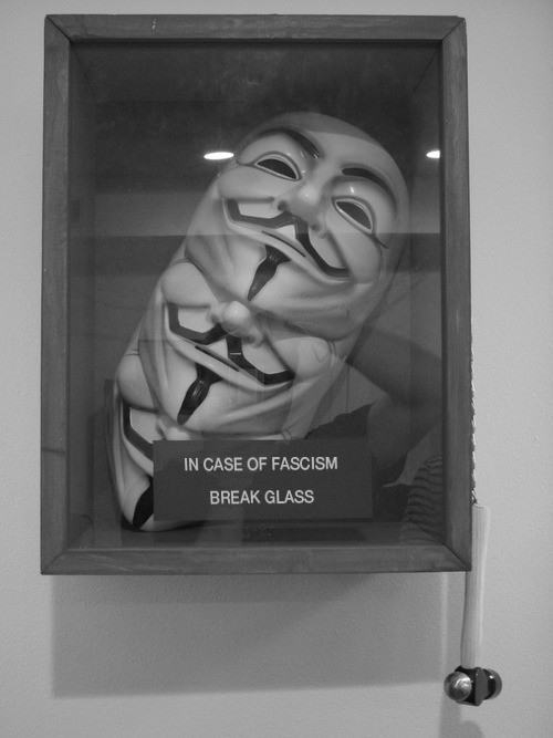 Anonymous : BREAK THE GLASS by OpGraffiti