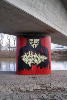 Anonymous StreetArt Vendetta Mural in Bamberg