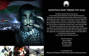 Anonymous Heart Merged with Gaza OpIsrael Anonarts