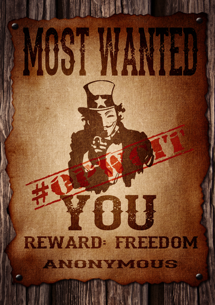 The most wanted is you #OpWCIT version by OpGraffiti