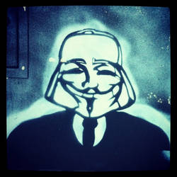 Anonymous Street Art Fawkes Vador Poitiers France
