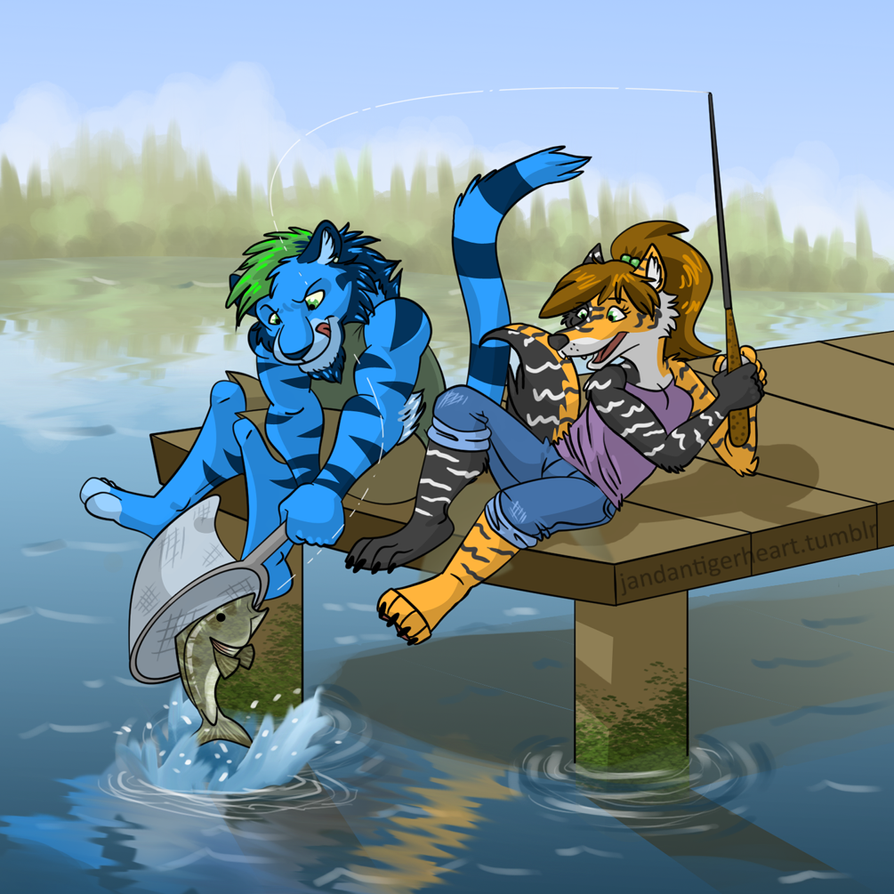 Fishin' from the Dock by Songficcer