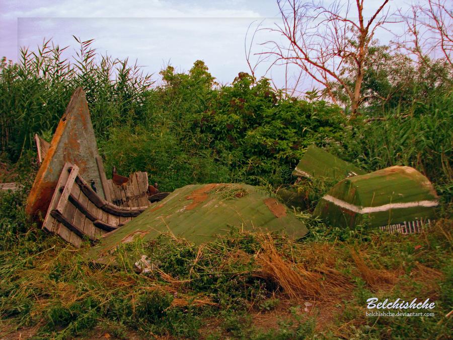 Abandoned boat by Belchishche