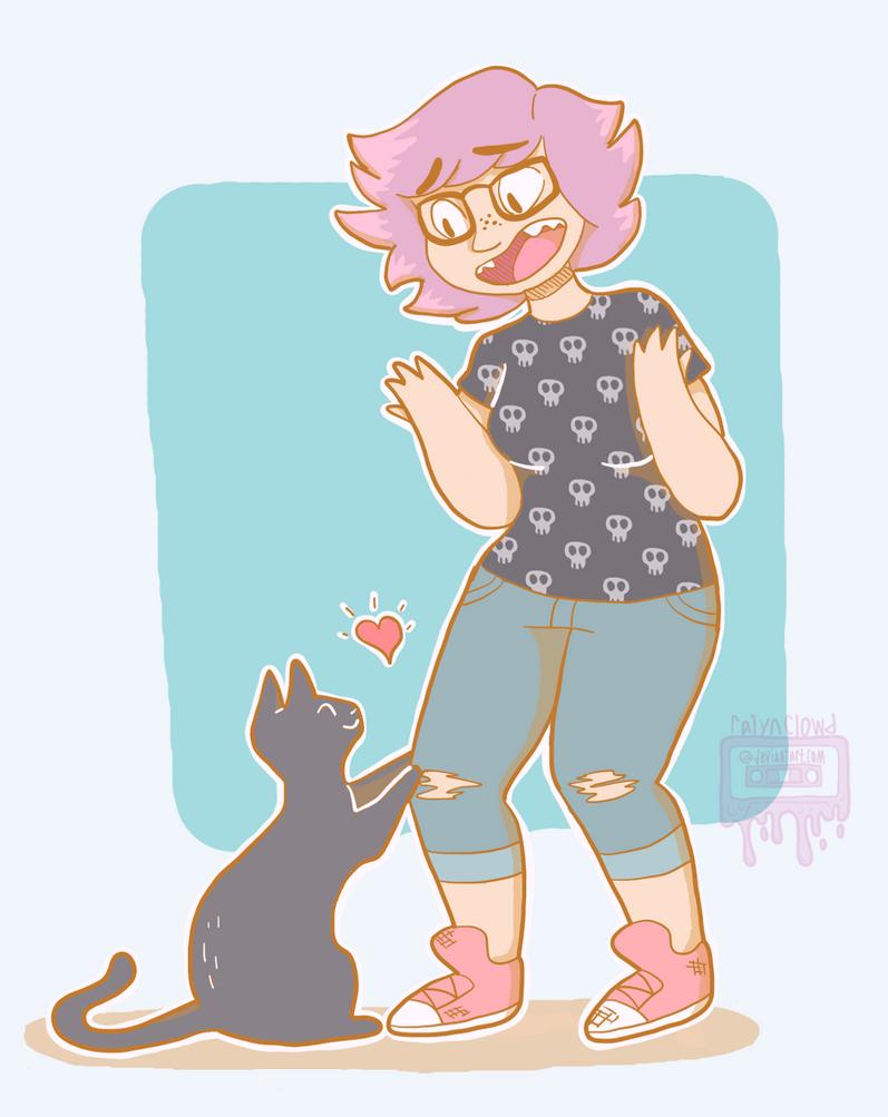 I Love You Too, Kitty! by RaiynClowd