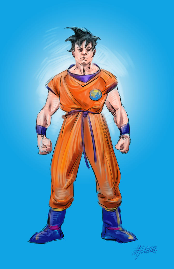 Goku-Dragon Ball by MGuevara