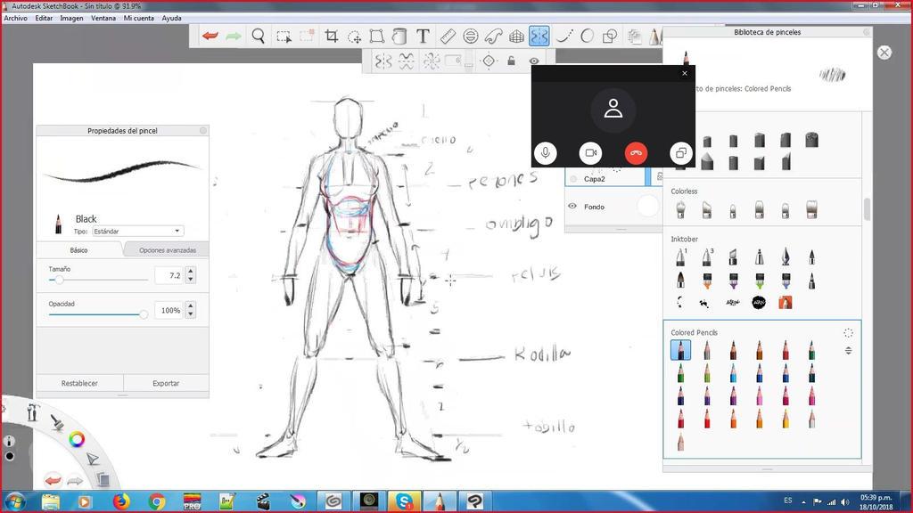 Taller digital en SketchBook por Skype:rockbong by MGuevara
