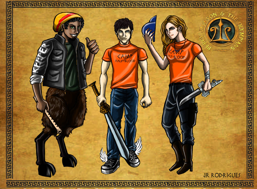 Percy Annabeth And Grover By Junior Rodrigues On Deviantart