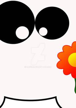 Milky has a flower