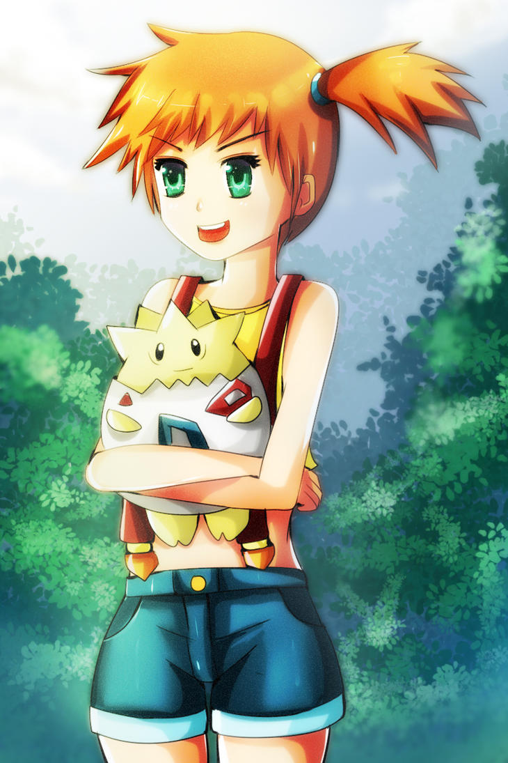 misty and togepi by Avaloki