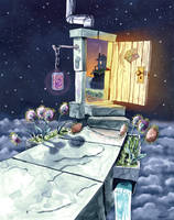 An open door in the night... by Jcoon
