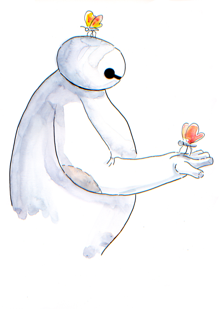 Baymax and Butterflies by Jcoon