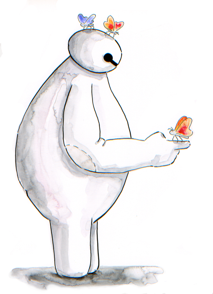More Baymax and Butterflies by Jcoon