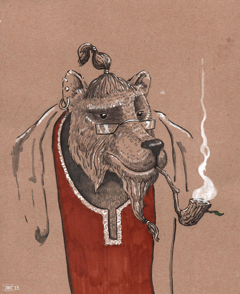 Creature Council: The Wise Old Bear by Jcoon