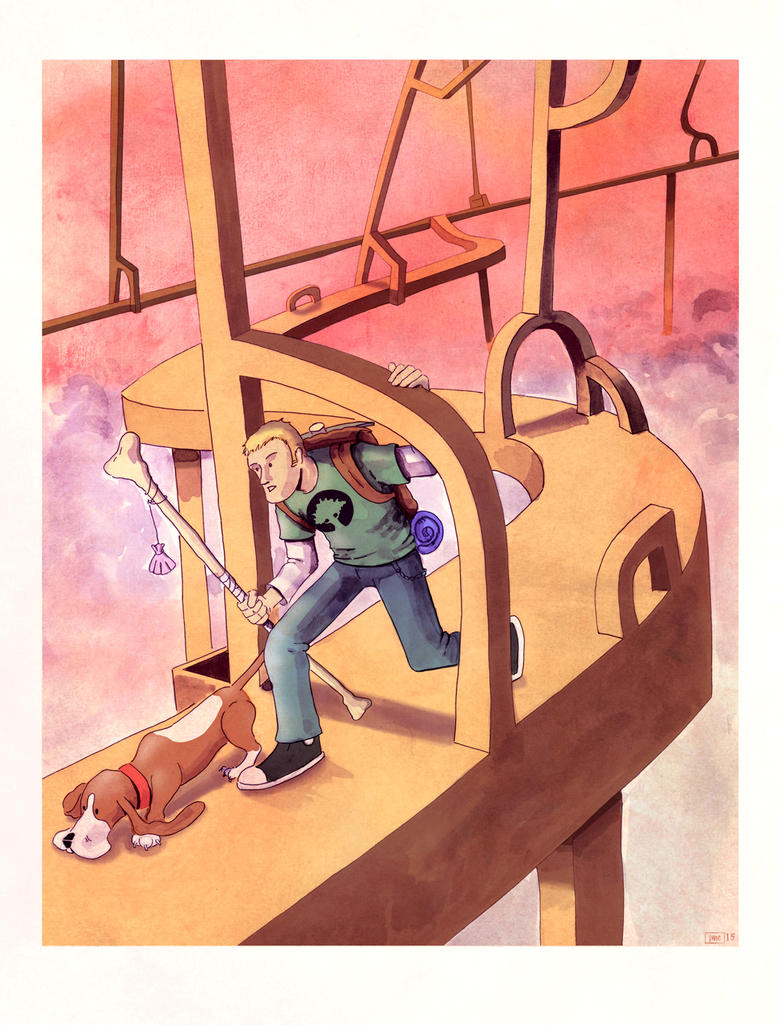 Oliver Traveling by Jcoon