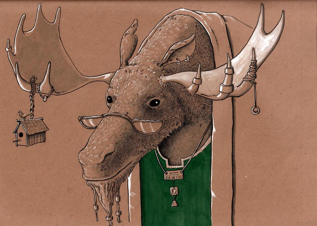 Creature Council: Elder Moose by Jcoon