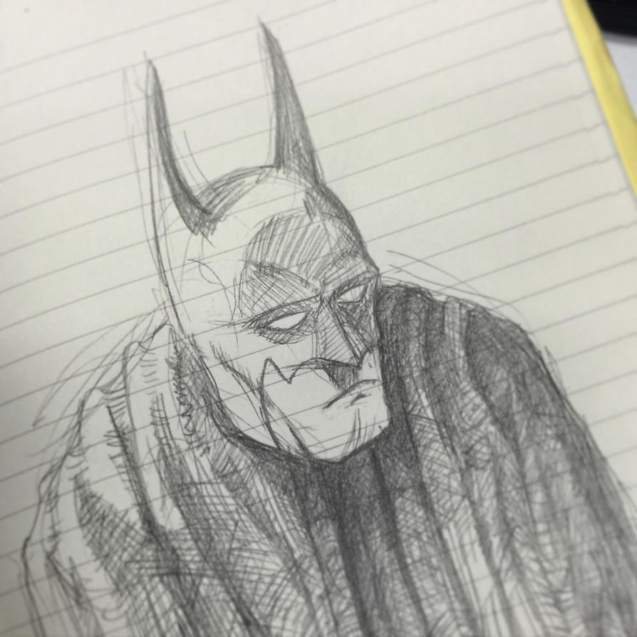 Sketching some Batman by Jcoon