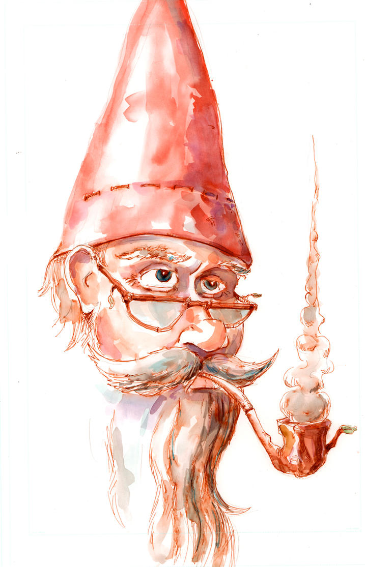 Gnome Watercolor Doodle... by Jcoon