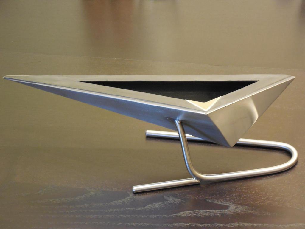 stainless steel vase by metalsculpture on deviantart - stainless steel vase by metalsculpture