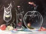 Acrylic stillife (fruit rain)