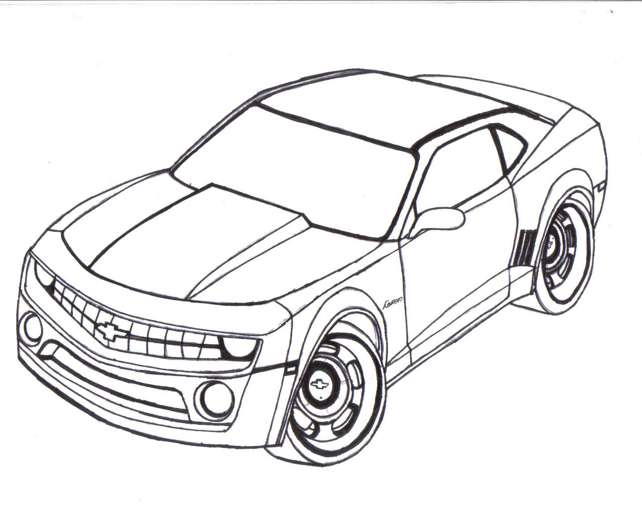 Line Design Art With Mr E : Chevy camaro line art by mister lou on deviantart