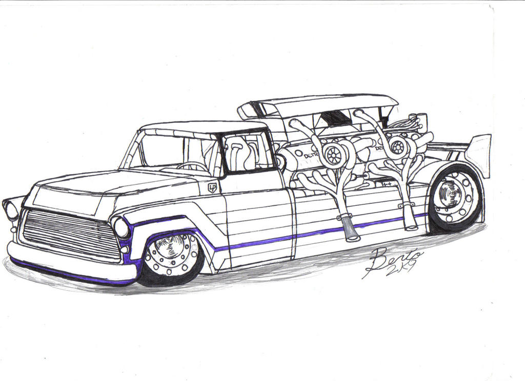 1955 chevy truck sneak preview by mister