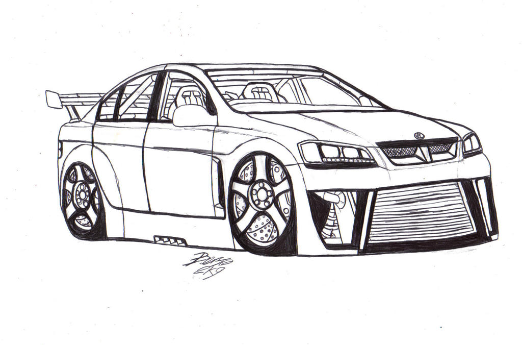 hsv clubsport lineart by mister