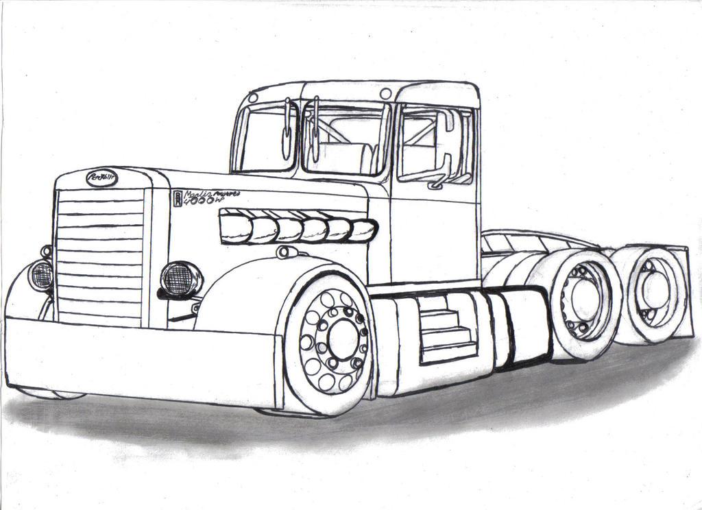 Drawings Of Peterbilts