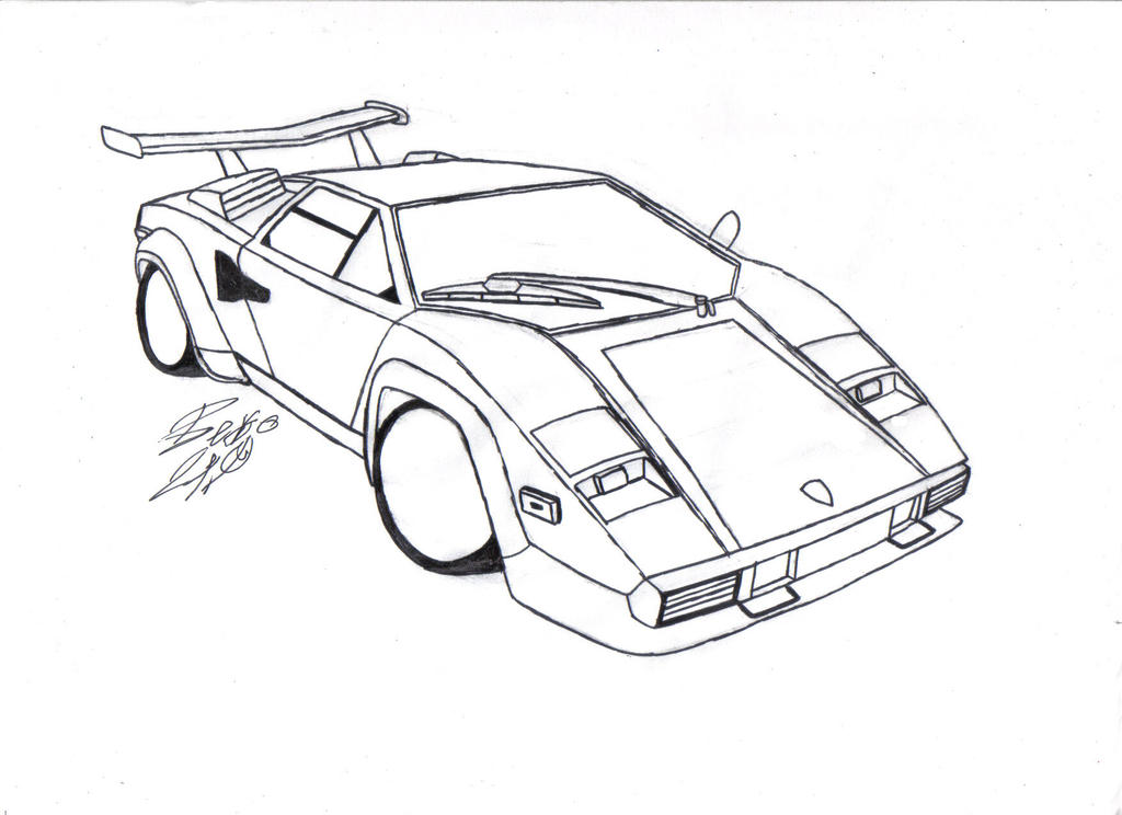 Lambhini Countach Coloring Pages