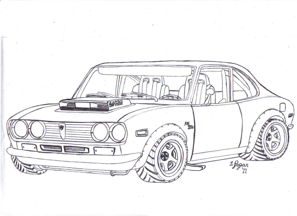mazda rx2 lineart by mister