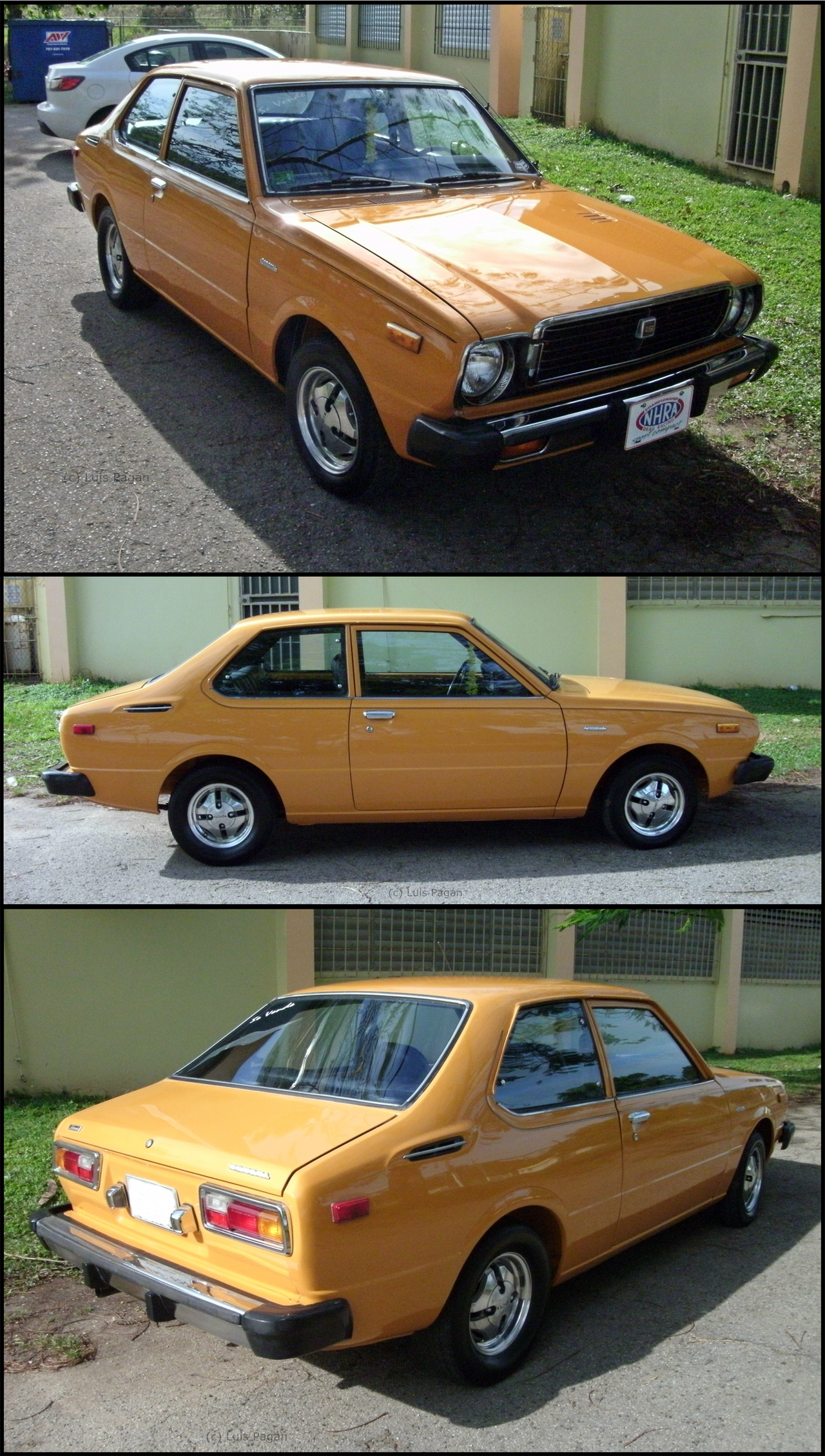 77' Toyota Corolla orange by Mister-Lou