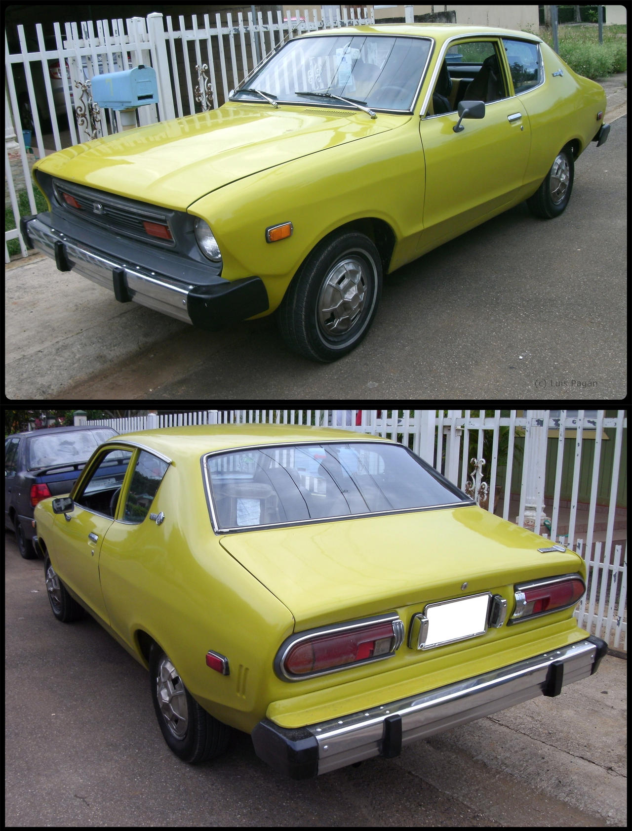 76 datsun b210 rear and front by mister lou on deviantart