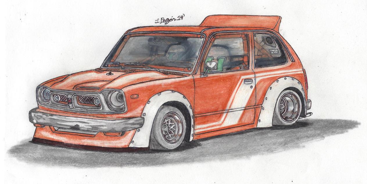 1973 Honda Civic by Mister-Lou