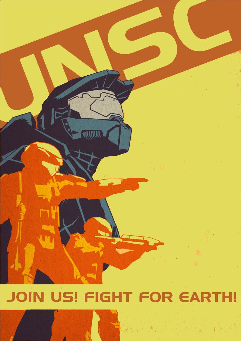 Halo Propaganda Recolor UNSC by GotWaf on DeviantArt Unsc Propaganda