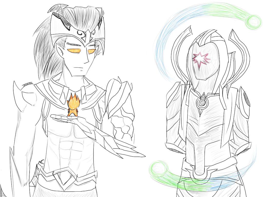 Nightbringer Yasuo And Cosmic Blade Master Yi By Projectwuju On