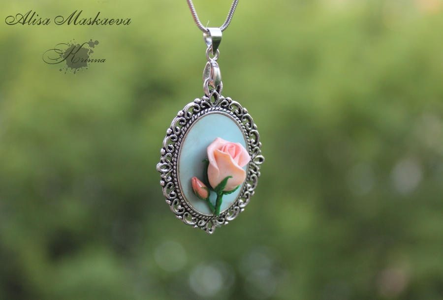 Tearose Pendant by Krinna