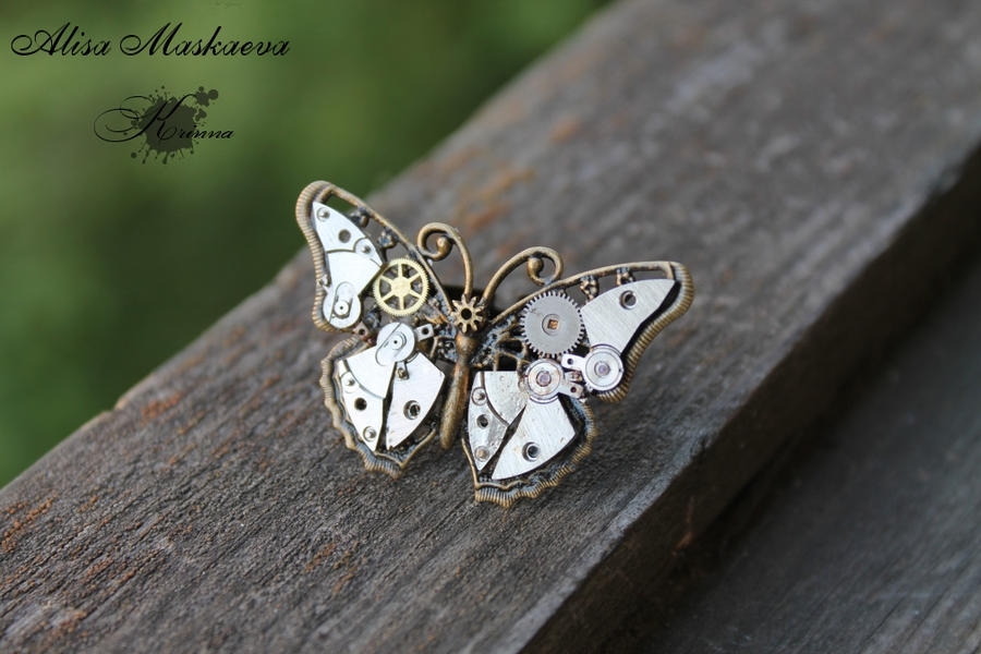 Butterfly Ring With Amytheist