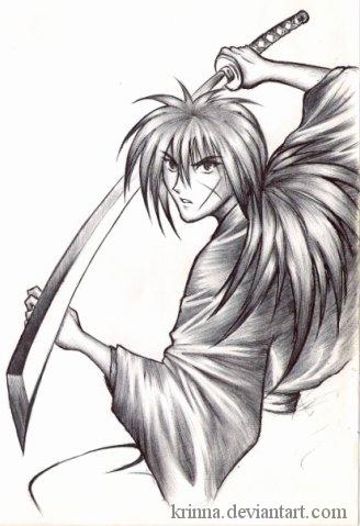 Kenshin Samurai X Old Drawing By Krinna