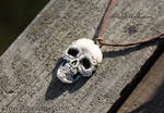 Skull Pendant from polymer clay
