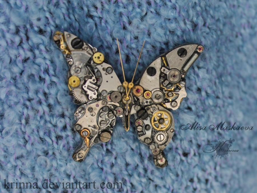 Steampunk butterfly 2 (old work) by Krinna