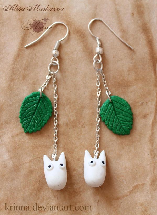 Chibi Totoro Earrings By Krinna On Deviantart