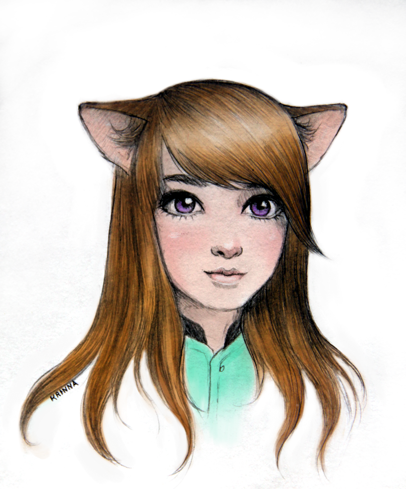 Foxy girl by Krinna on...